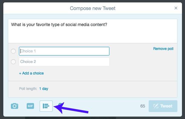 Create Twitter Polls