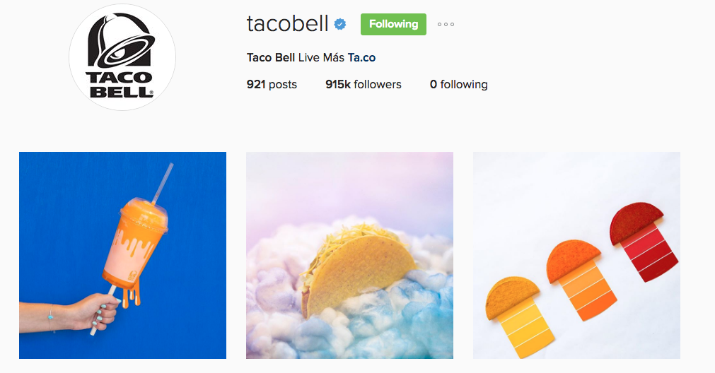 taco bell instagram example