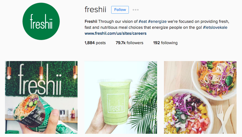freshii instagram example