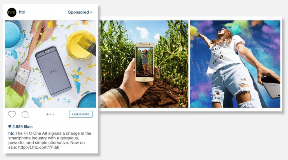 htc-instagram-ad  5 estadísticas de Instagram que debes conocer HTC Instagram Ad