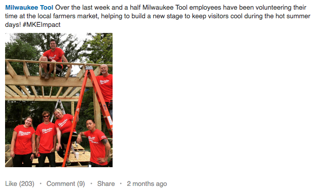 milwaukee tools example