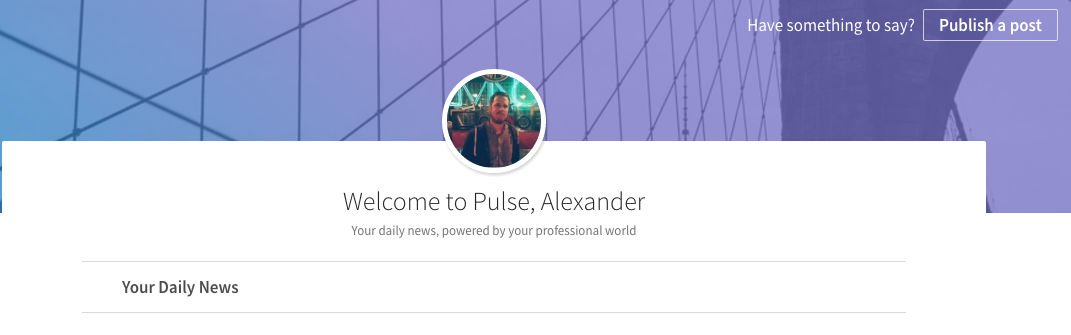 alex linkedin pulse example