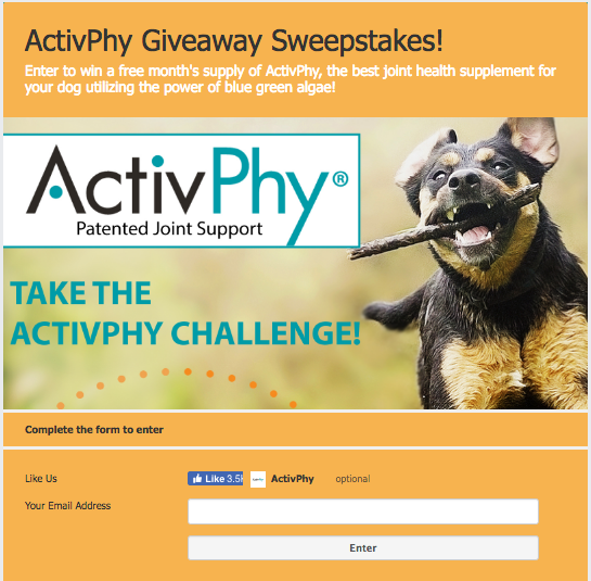ActivPhy Facebook Sweepstakes