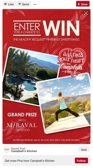 campbells pinterest contest
