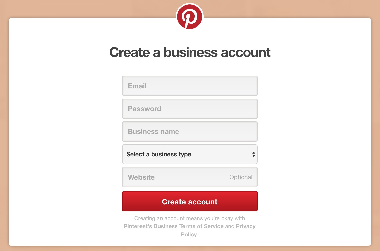create new pinterest business account