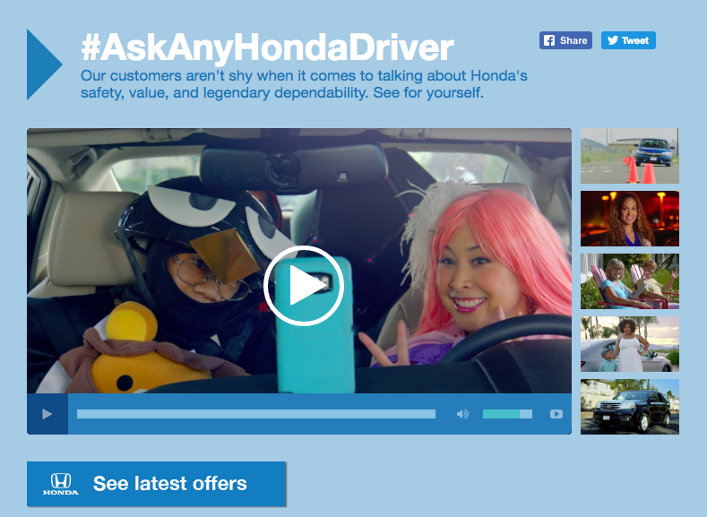 Honda Facebook Video Contest