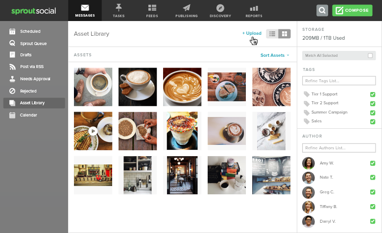 How to Create a Social Media Style Guide: 10 Things to Include asset library upload