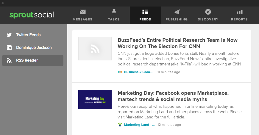 feedly sprout social integration