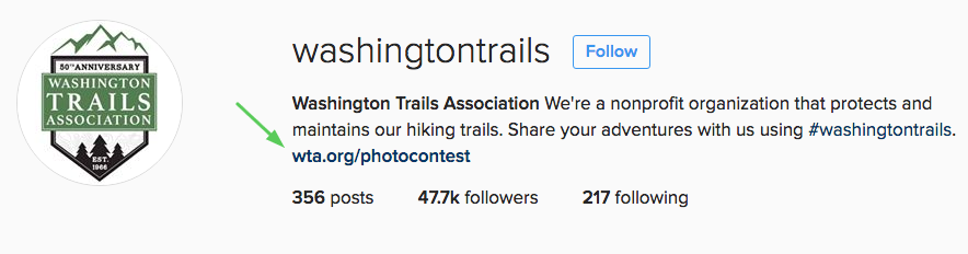 washington trails instagram photo contest