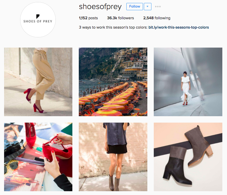 shoes of prey instagram example