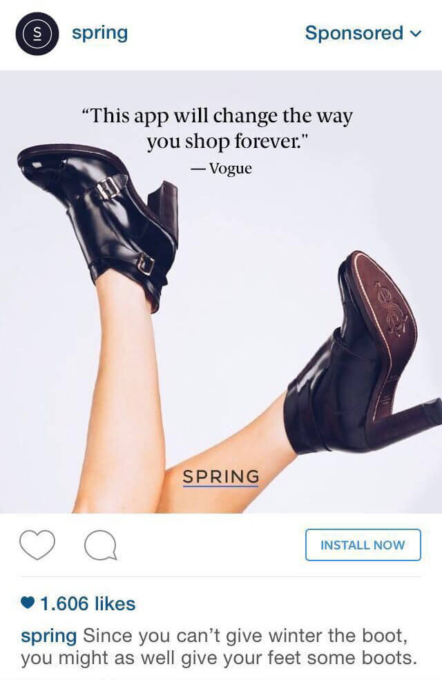 instagram ads example
