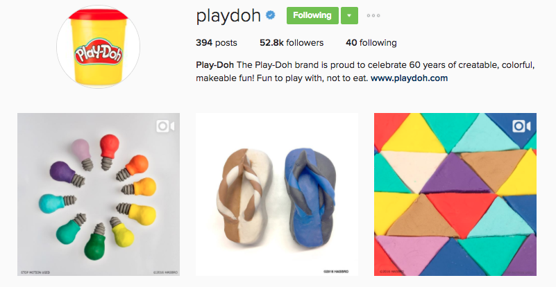 playdoh instagram profile