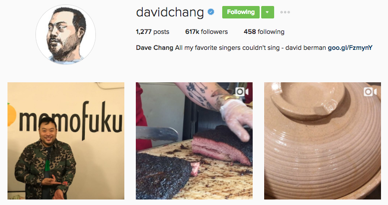 david chang instagram profile