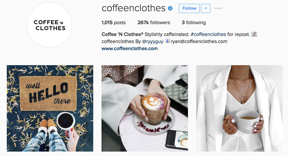 coffee n clothes instagram profile