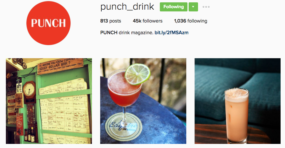 punch drink instagram profile