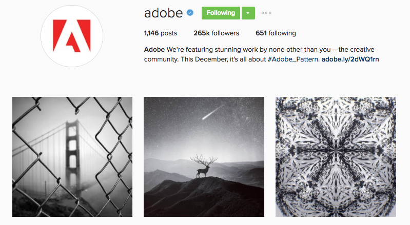 adobe instagram profile