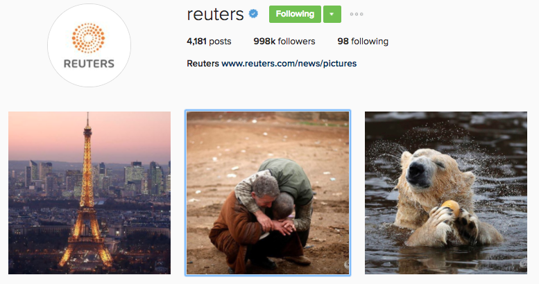 reuters instagram profile