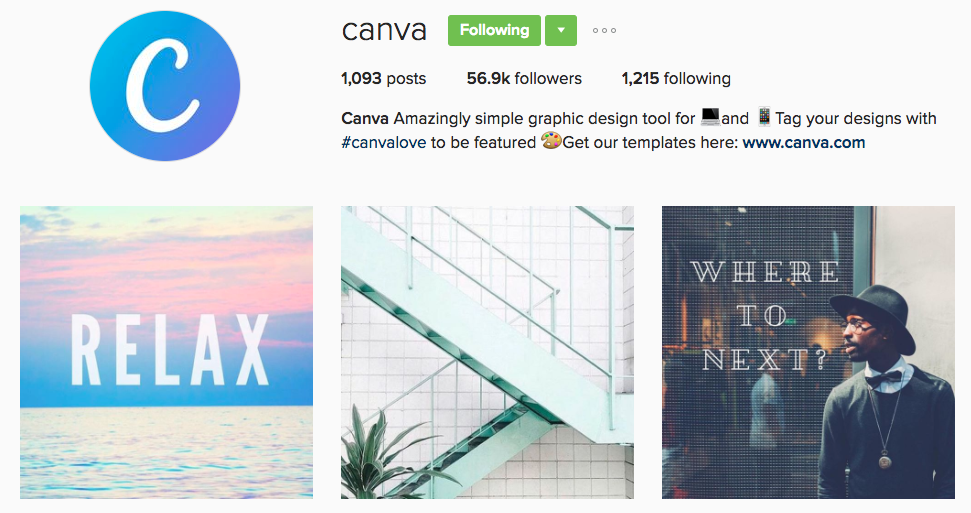 canva instagram profile