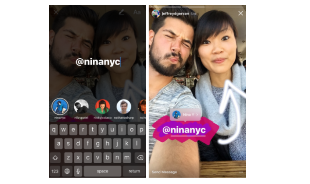 instagram story tag example