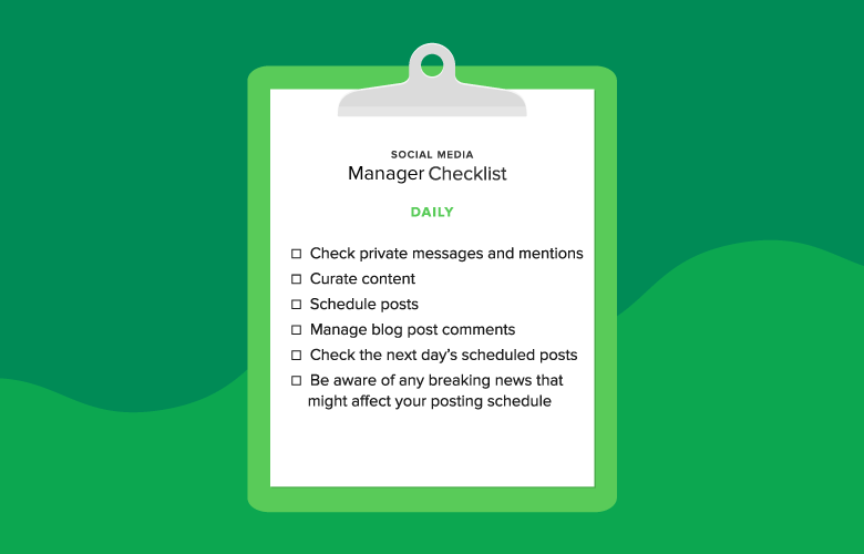 daily manager checklist graphic