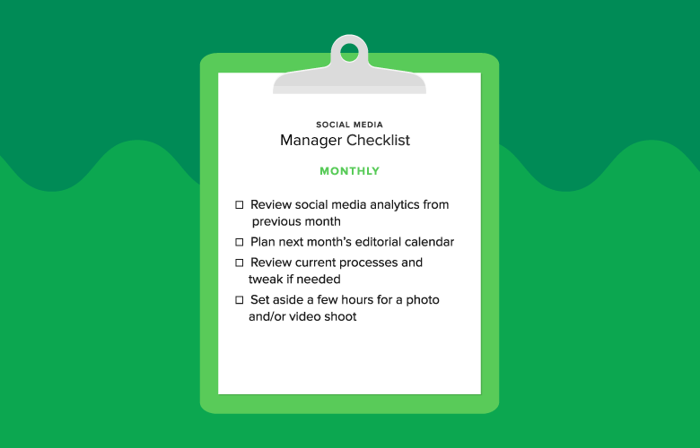 monthly manager checklist graphic