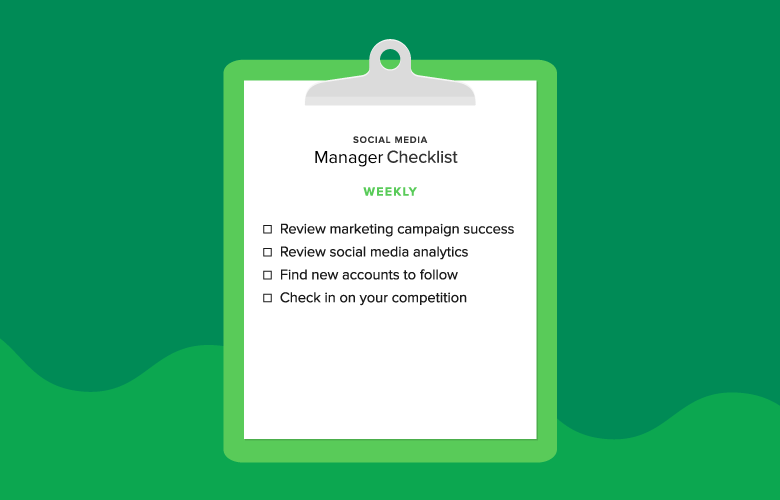 weekly manager checklist graphic