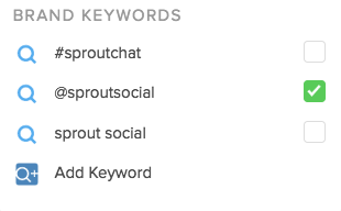 brand keywords smart inbox