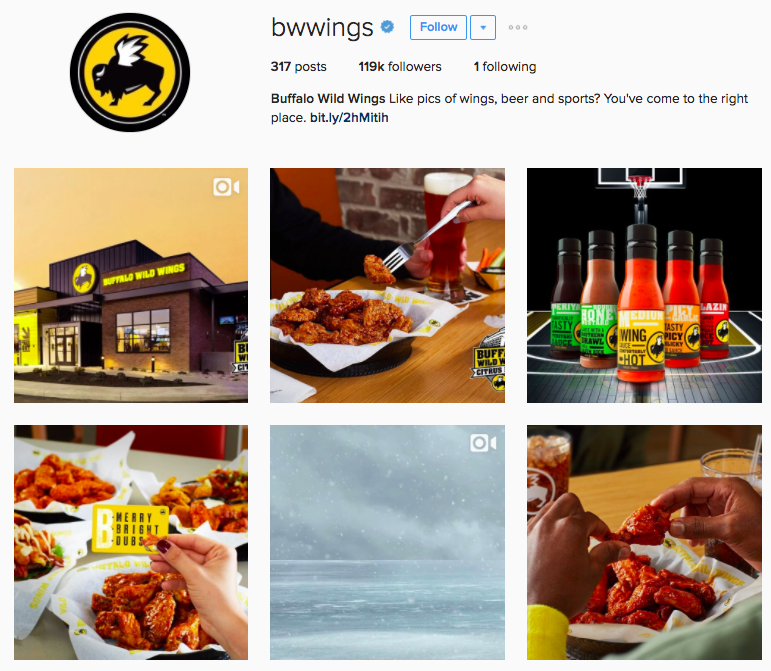 Complete guide to social media for restaurants bars sprout social buffalo wild wings instagram forumfinder Images
