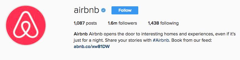airbnb instagram profile link