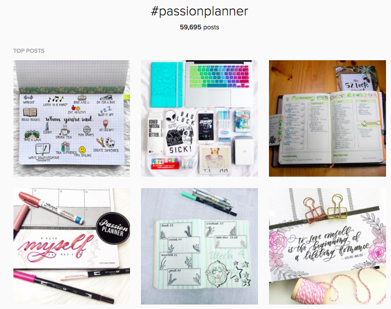 3 Steps for Successfully Selling on Instagram passion planner hashtag