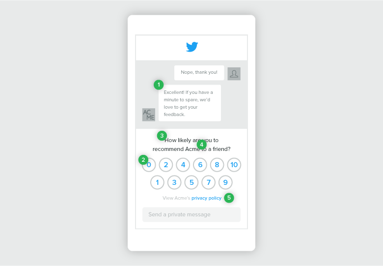 Avalie a satisfação do cliente usando o feedback do Twitter oferecido pelo Sprout Social