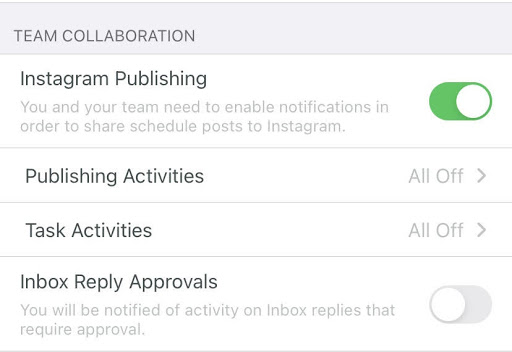 publishing notifications in Sprout mobile app