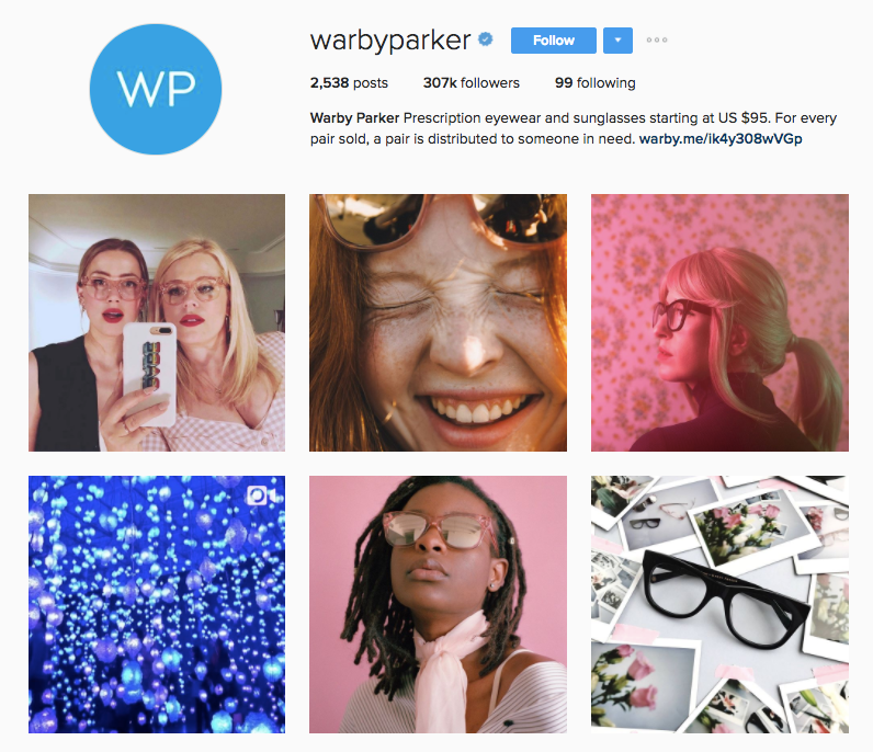 3 Steps for Successfully Selling on Instagram warby parker instagram