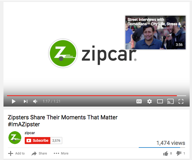 zipcar annotation example  9 Tips on How to Get More Subscribers: A YouTube Guide zipcare annotation example
