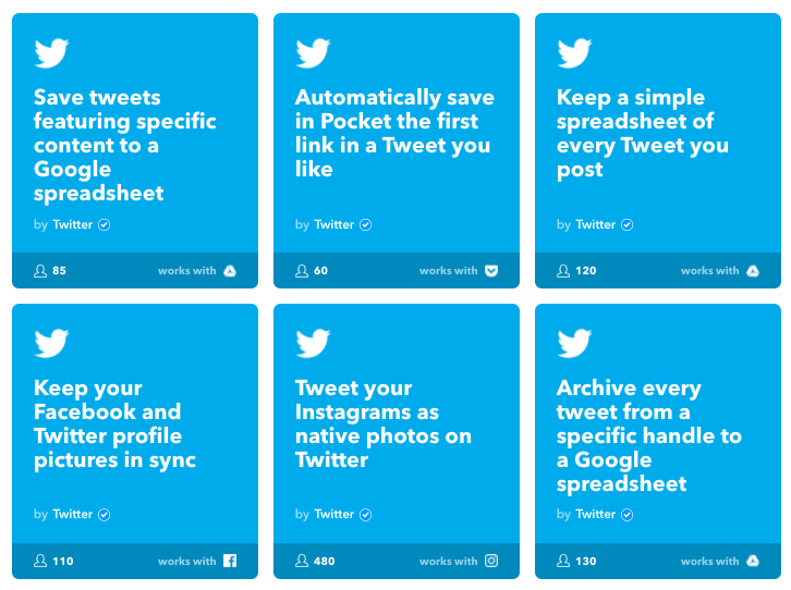Twitter IFTTT Recipes