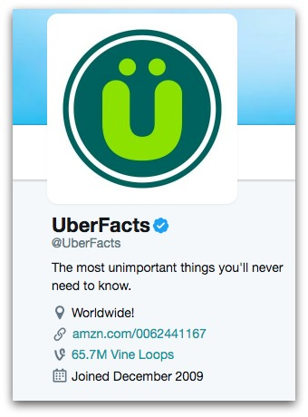 Uberfacts Twitter Bio  8 Twitter Bio Ideas to Attract More Followers Uberfacts Twitter Bio