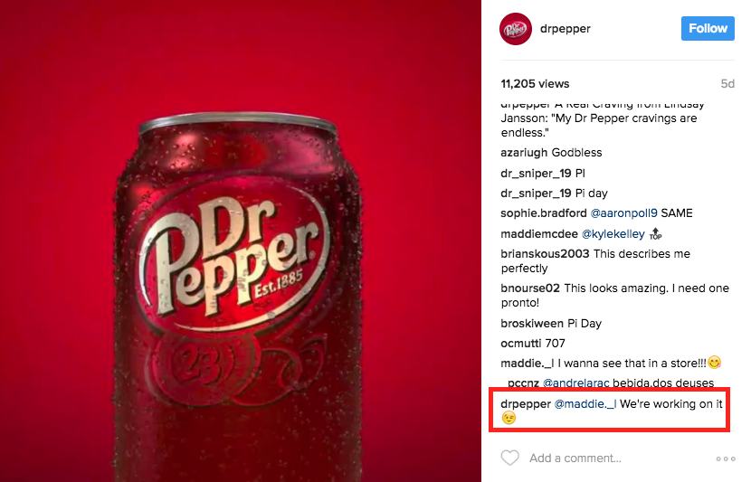 dr pepper example