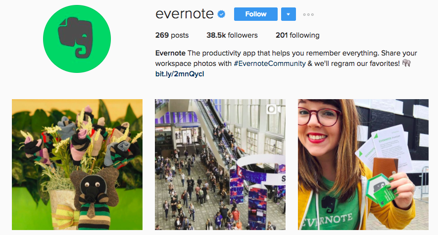 evernote screenshot  The 5-Step Guide: How to Be Successful on Instagram evernote screenshot
