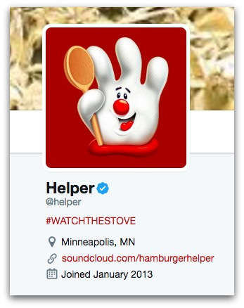 helper twitter bio