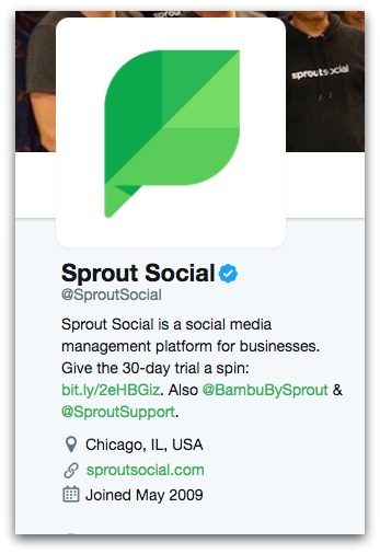 sprout social twitter bio