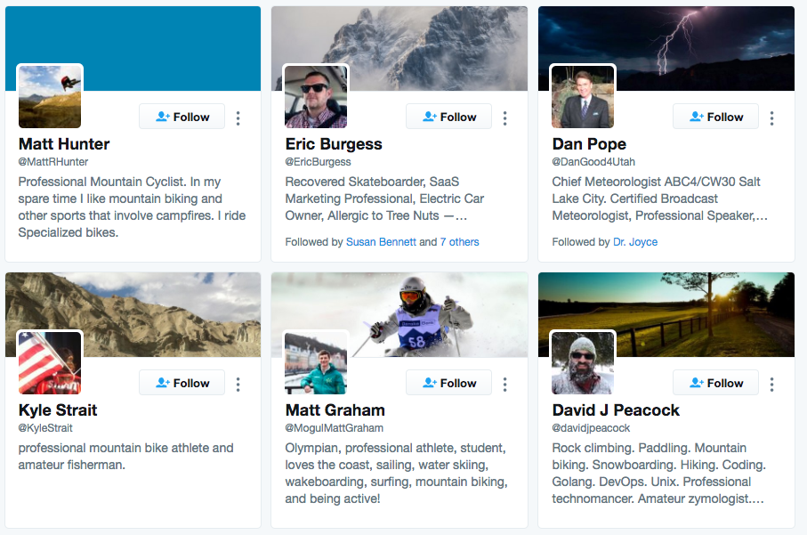 mountain biking search twitter