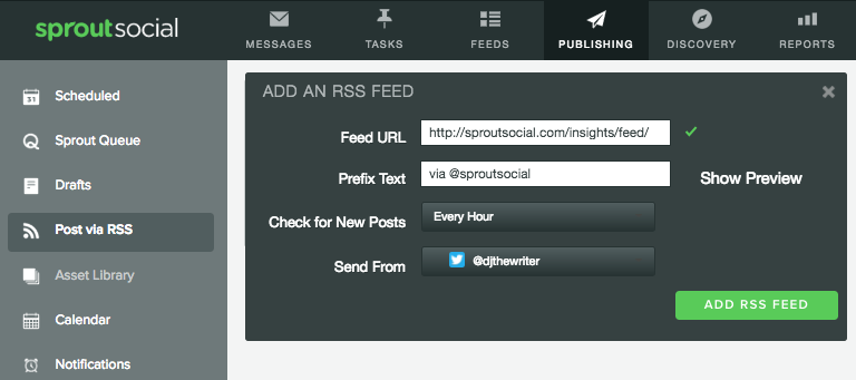 Sprout Social Post Via RSS  Social Media Automation Rules No Brand Should Break Sprout Social Post Via RSS