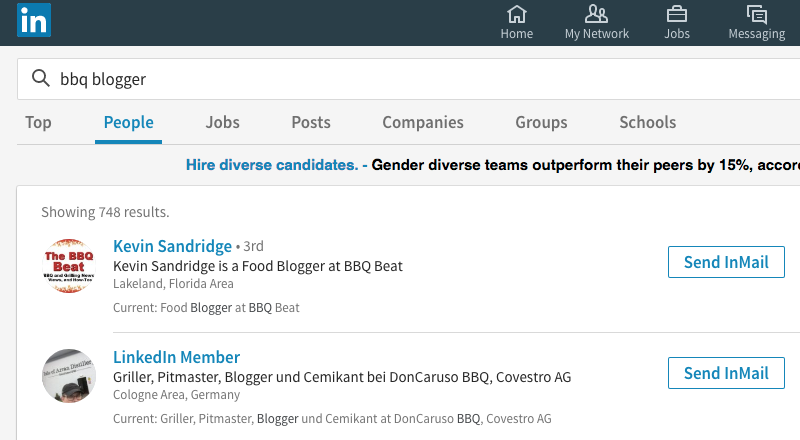linkedin search screenshot