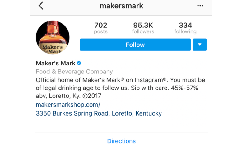 makers mark instagram profile