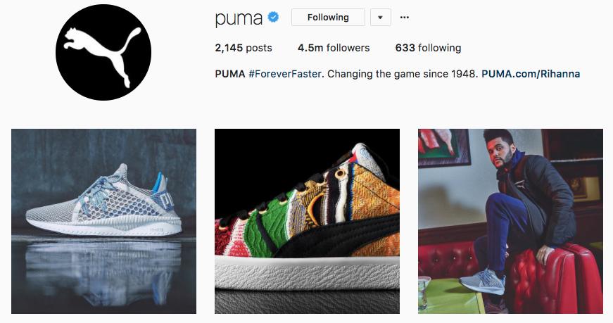 puma instagram bio