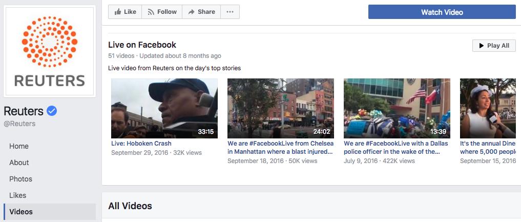 reuters facebook live screenshot