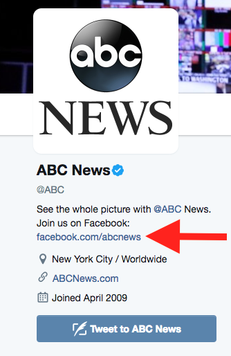 abc news twitter facebook link