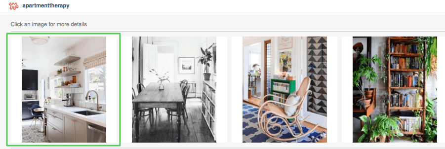 apartment therapy instagram landing page