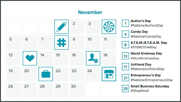 hashtag holiday calendar  The Complete Guide to Twitter Marketing hashtag holiday calendar