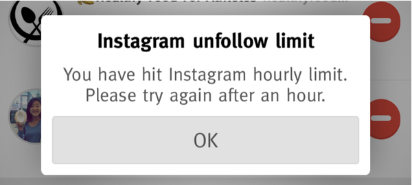 instagram unfollow limit warning